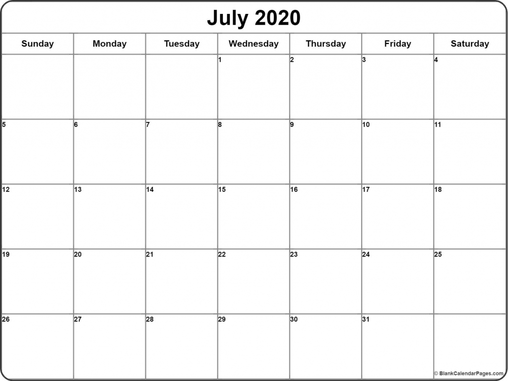 july 2020 calendar free printable monthly calendars calendar page starting from july 2020 with the hours listed daily 1