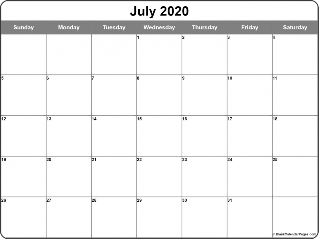 july 2020 calendar free printable monthly calendars calendar page starting from july 2020 with the hours listed daily 2