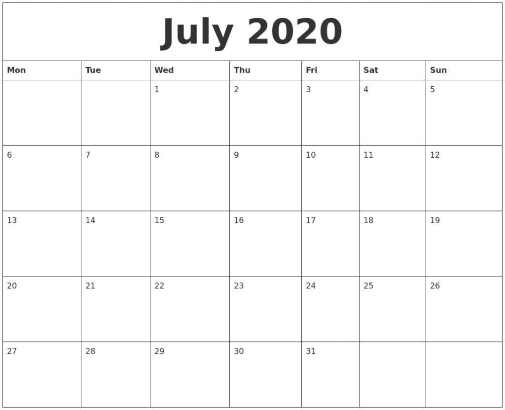 july 2020 cute printable calendar calendar page starting from july 2020 with the hours listed daily