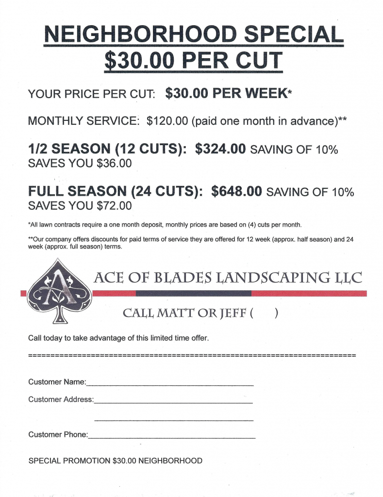 lawn mowing flyer template invoices mowing services 12 month lawn care schedule