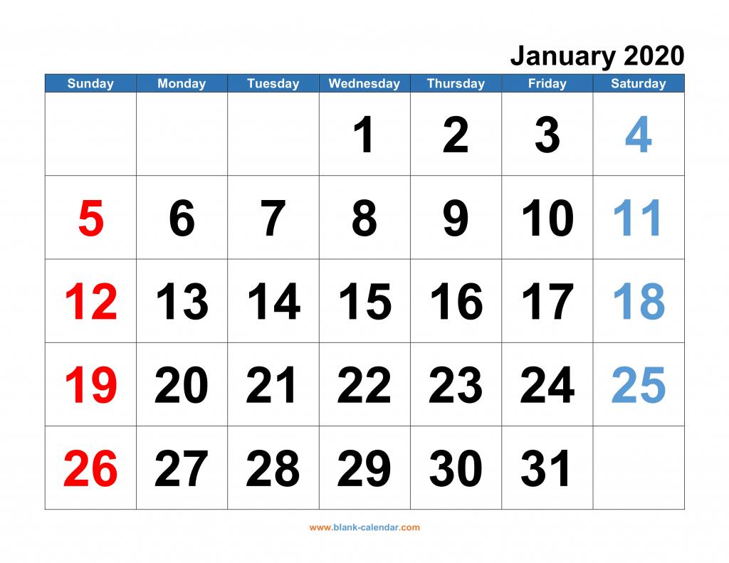 monthly calendar 2020 free download editable and printable 6 week blank calendar 2020