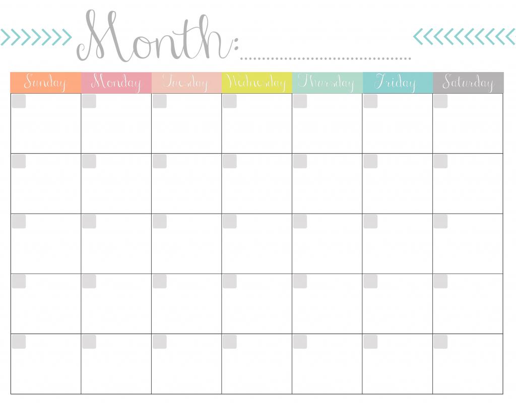 monthly calendar free printable 8 5 x 11 blank calendars to print