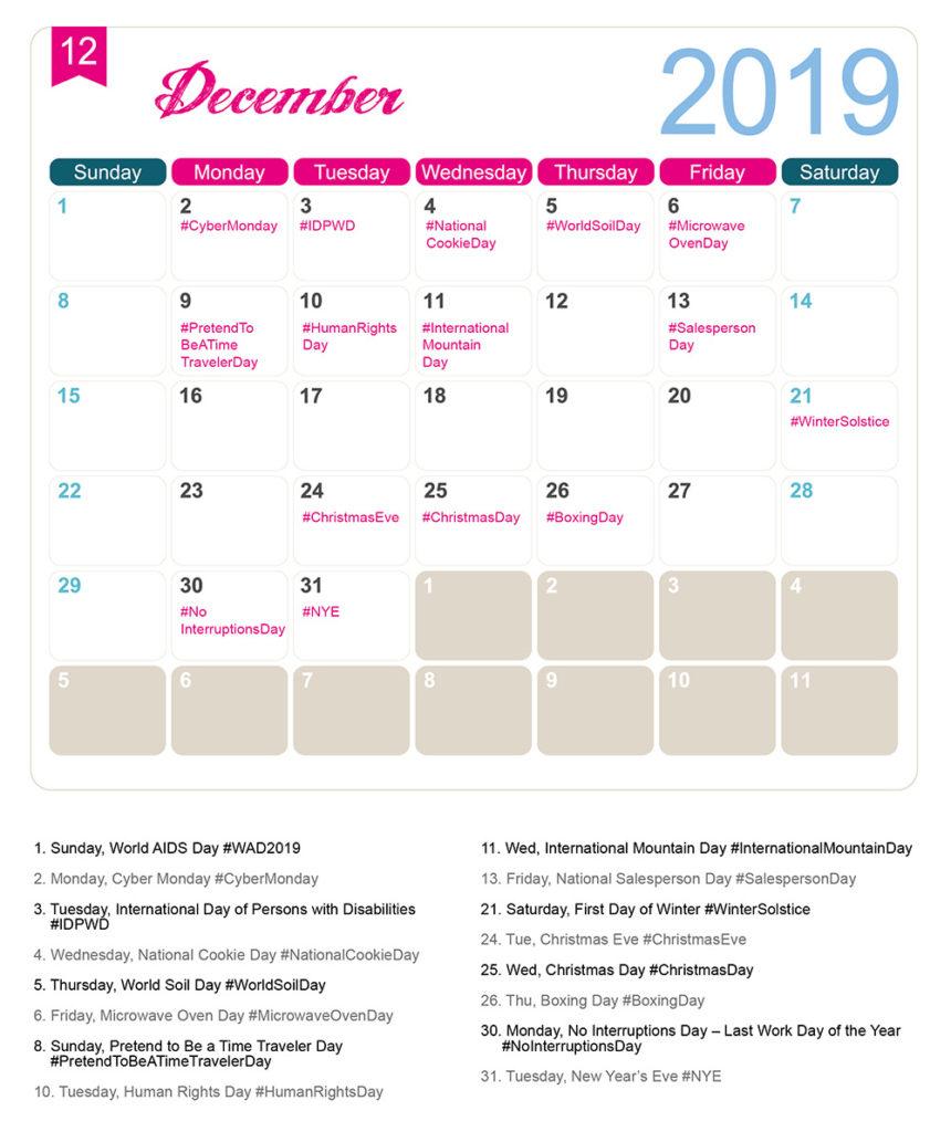 national food day calendar january 2020 calendar printable special food day calendar 2020