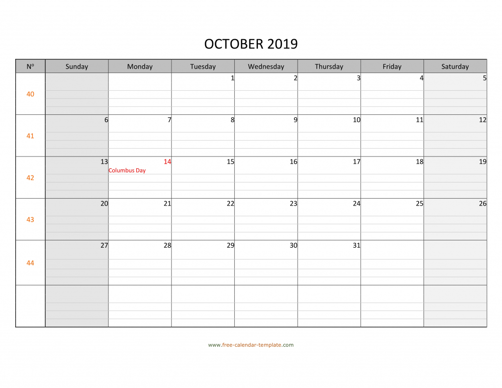 october 2019 calendar free printable with grid lines calendar with lines