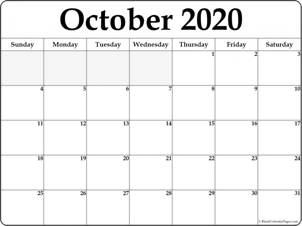 october 2020 monthly calendar blank printable us calendar printable october 2020 calendar 8 x 11