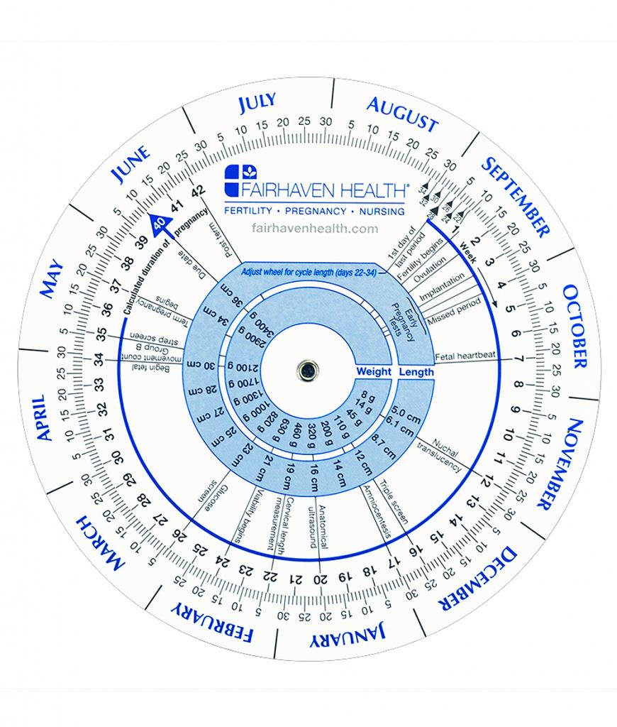 ovulation and pregnancy calendar wheel ivf calendar due date