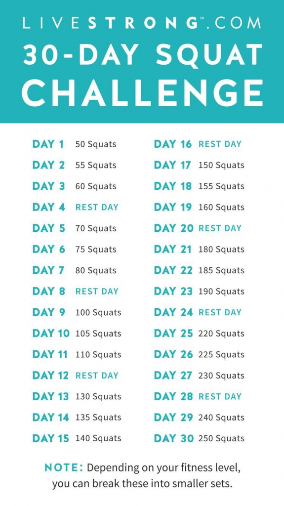 pin kaylie mason on health 30 day workout challenge 30 livestrong 30 day squat challenge printable
