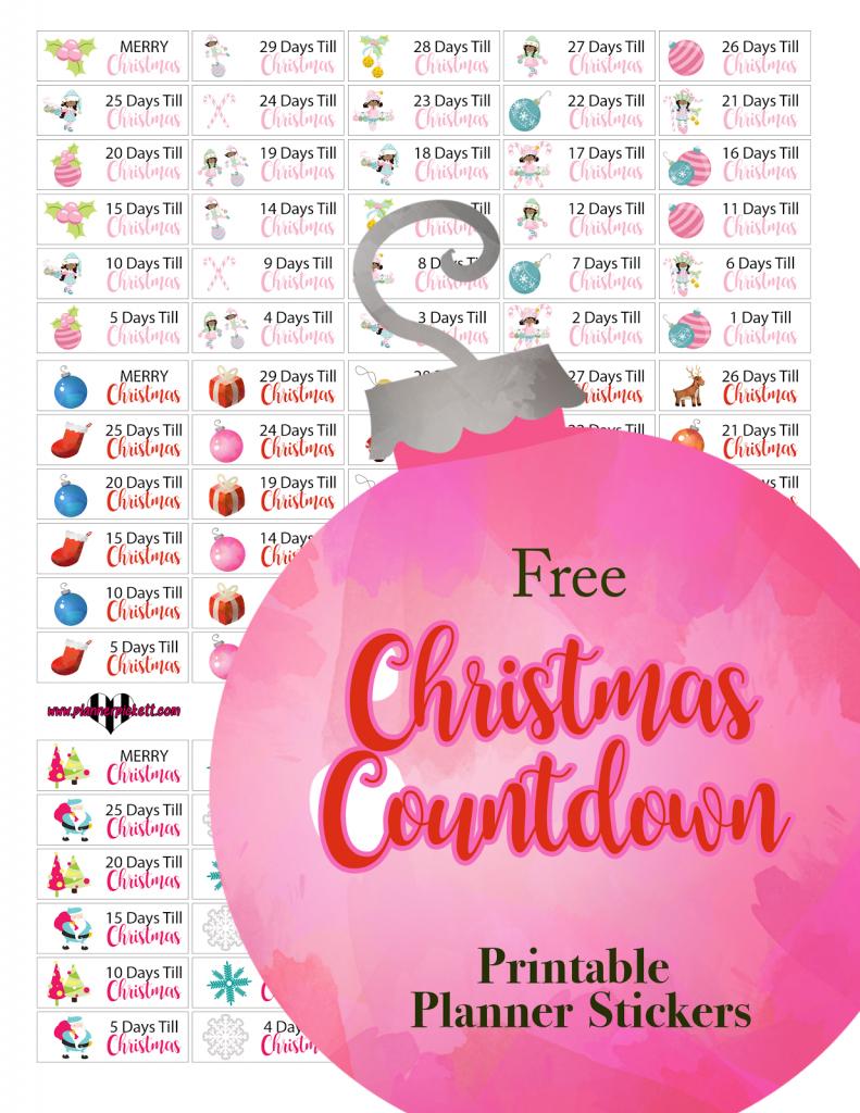 plannerpickett free christmas countdown calendar planner christmas countdown planning calendar