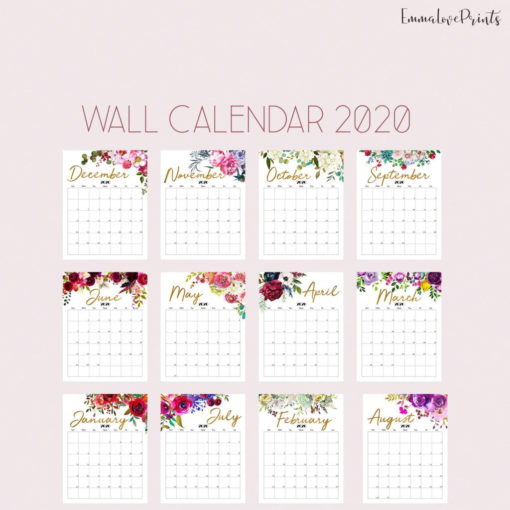 printable calendar 2020 wall calendar 2020 desk calendar 8 5 x 11 printable calendars 2020