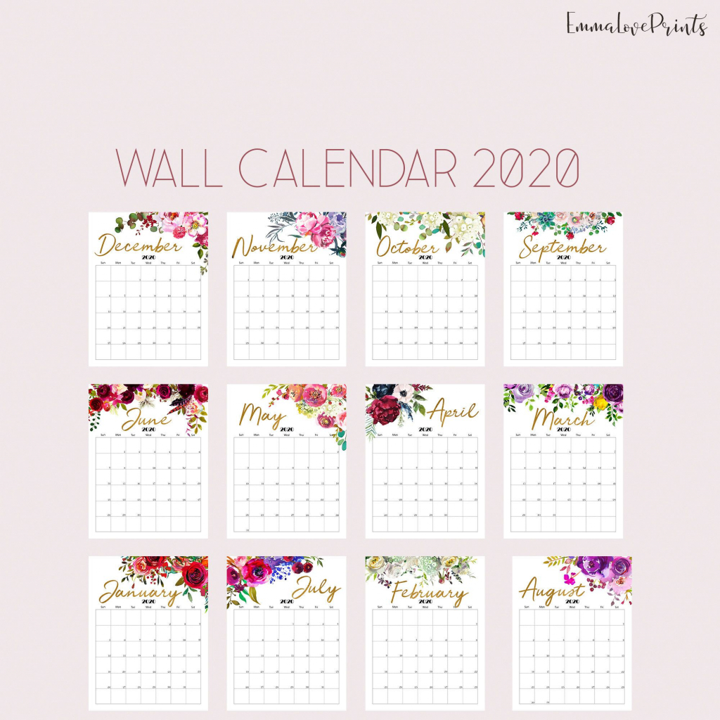 printable calendar 2020 wall calendar 2020 desk calendar 8 5x11 printable calendar