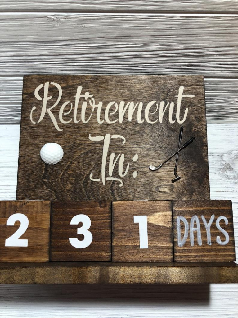 retirement countdown block calendar golf theme retirement countdown calendar