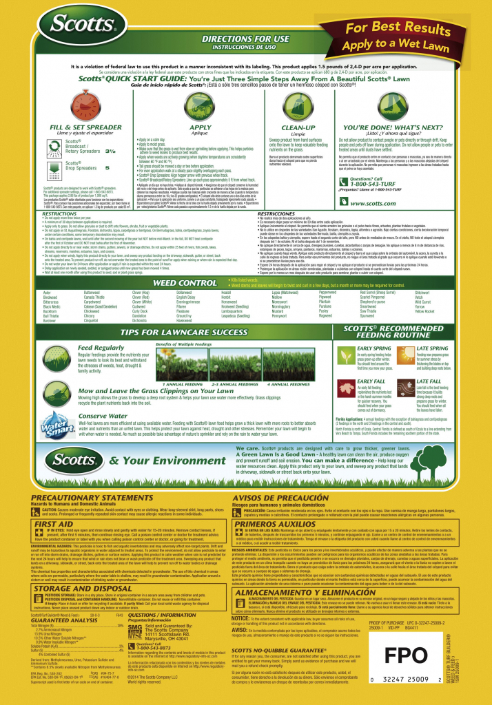 scotts turf builder weed feed 12 month lawn care schedule