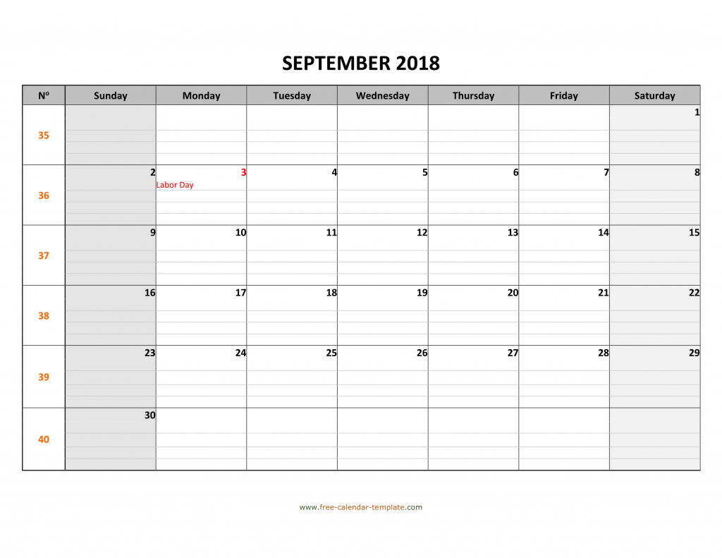 september 2018 calendar free printable with grid lines calendar template with lines