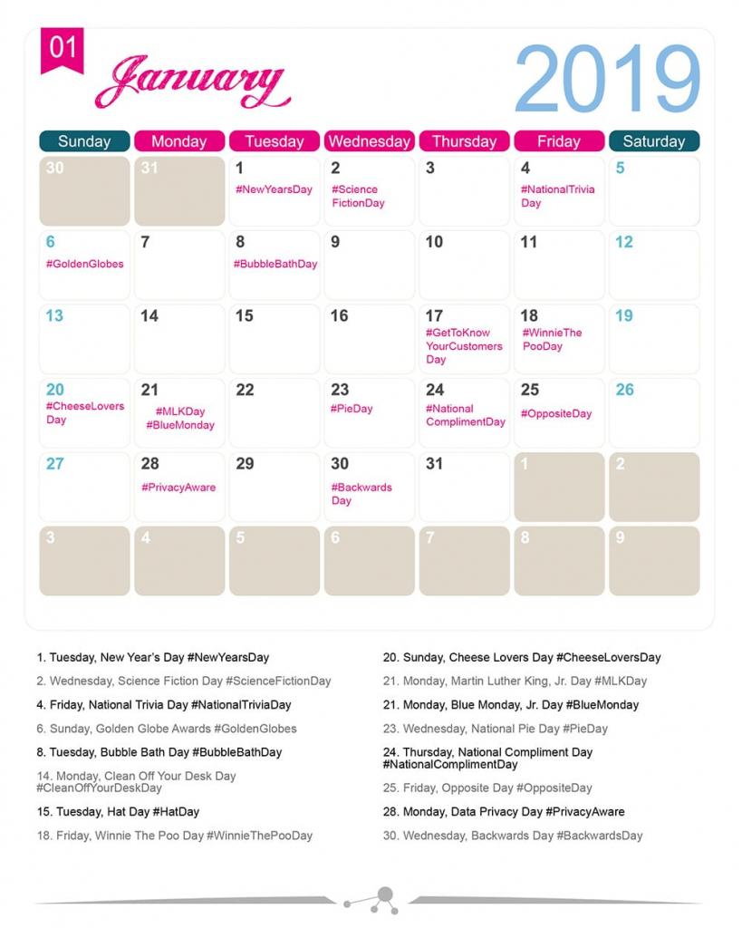 the 2019 social media holiday calendar make a website hub special food day calendar 2020