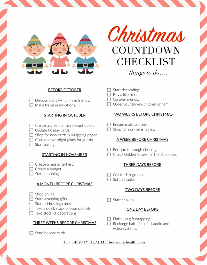the ultimate christmas countdown checklist christmas christmas countdown planning calendar