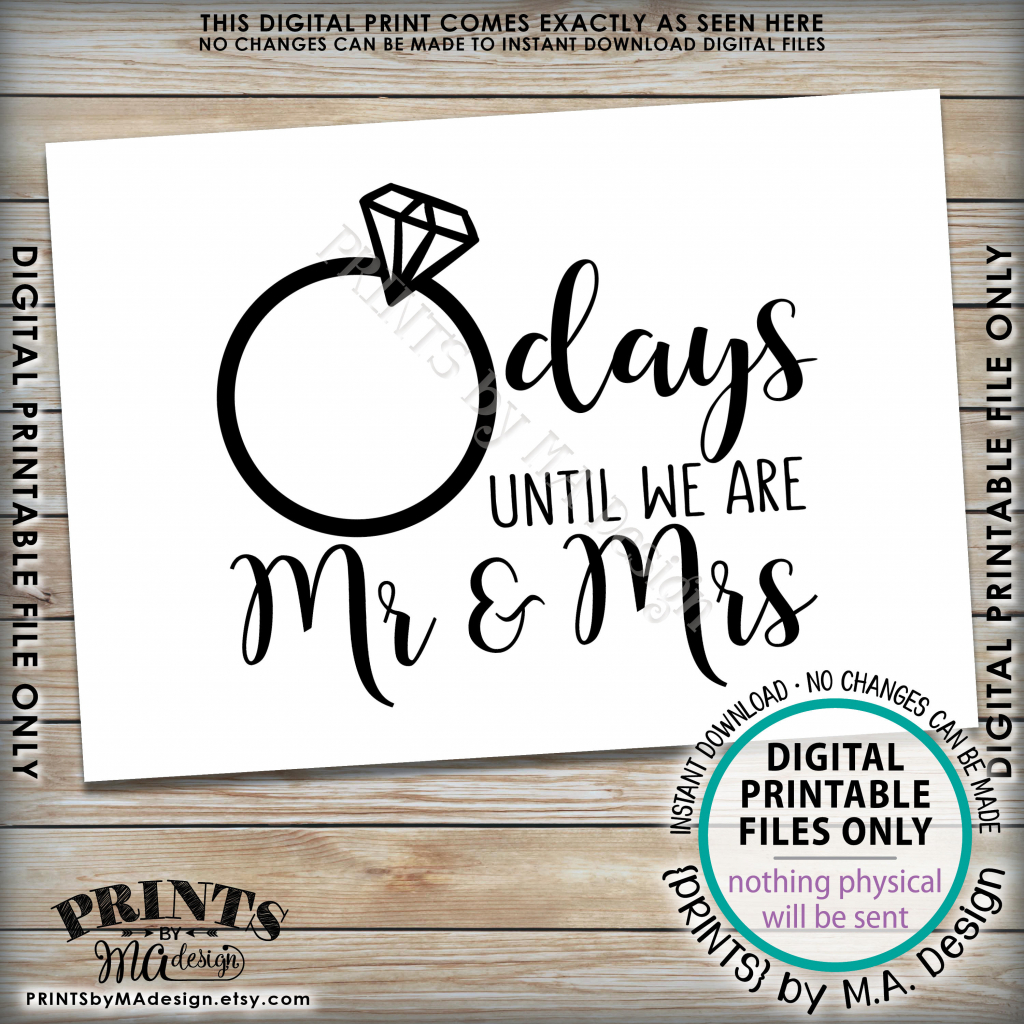 wedding countdown sign countdown to wedding sign days wedding countdown printable