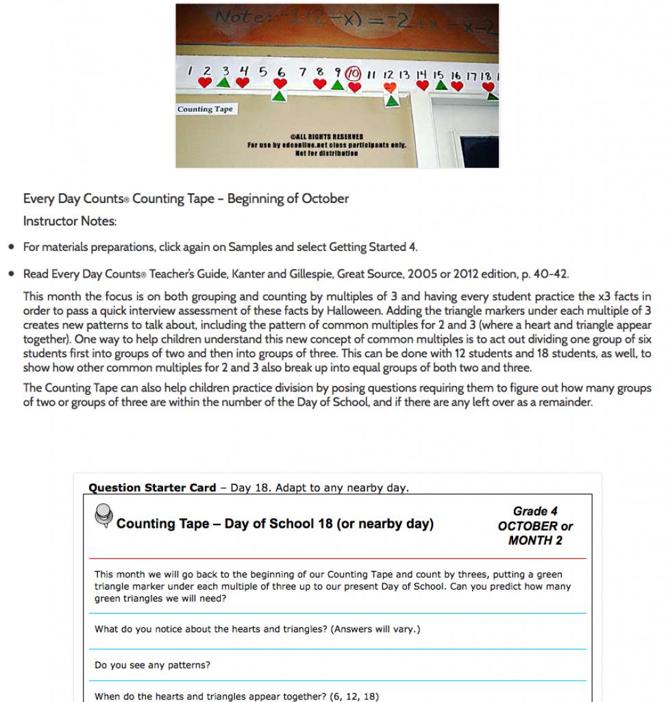 what we do edc online calendar math teacher support everyday counts edc calendar math hough mifflin 1st grade 1