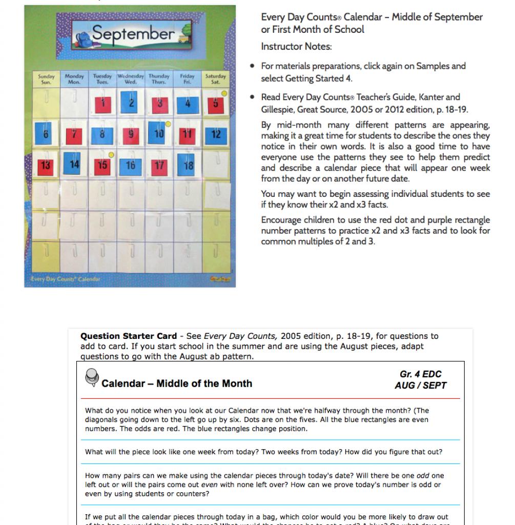 what we do edc online calendar math teacher support everyday counts edc calendar math hough mifflin 1st grade