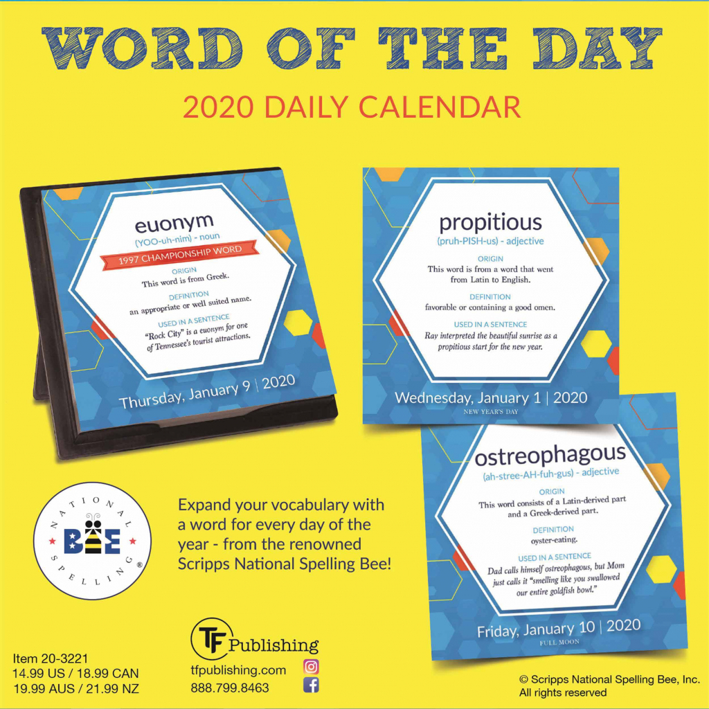 word of the day desk calendar 2020 word of the day calendar 2020 1