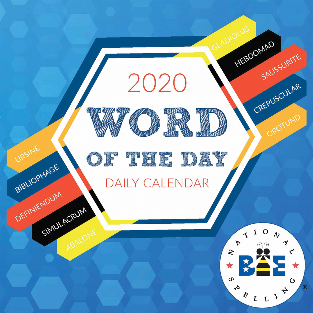 word of the day desk calendar 2020 word of the day calendar 2020
