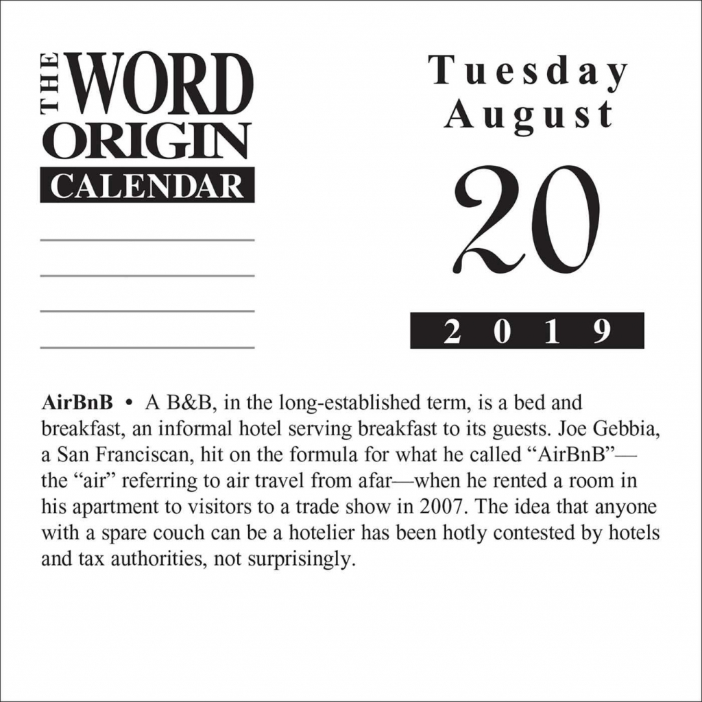 word origin 2019 day to day calendar calendar day to day word of the day calenda