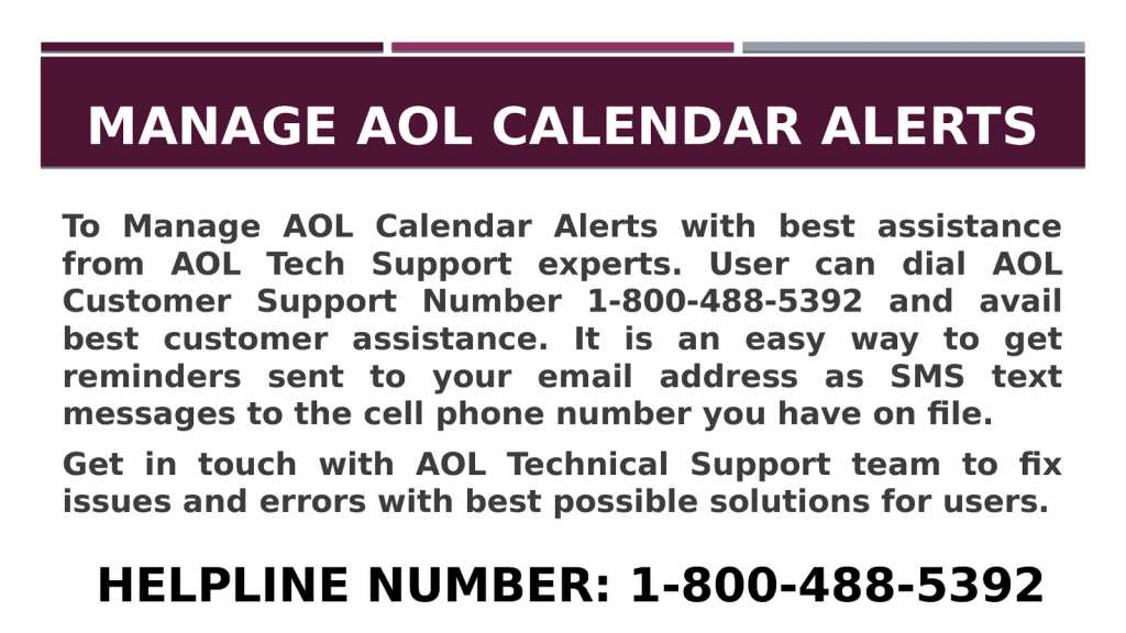 1 800 488 5392 manage aol calendar alerts aol calendar 1