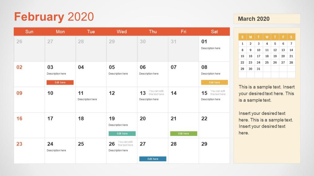 2020 calendar powerpoint template lesson plan calendar template 2020