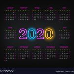 2020 Year Calendar Template Two Thousand Twenty 10 000 Year Calendar Printable
