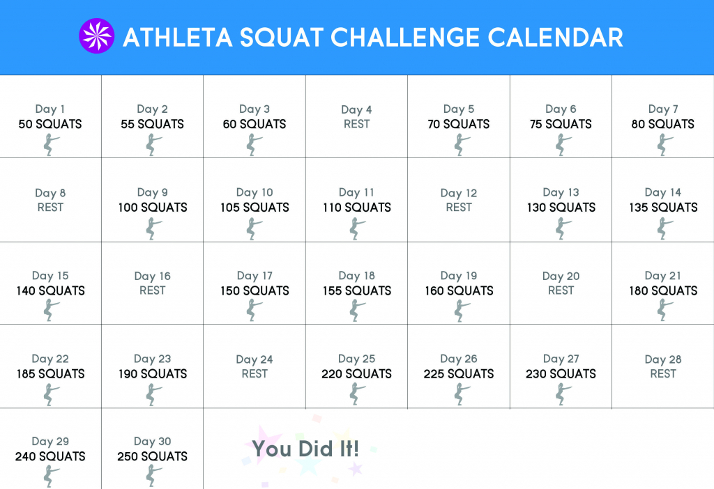 30 day squat challenge wellnessfitness 30 day squat 30 day squat challenge calendar