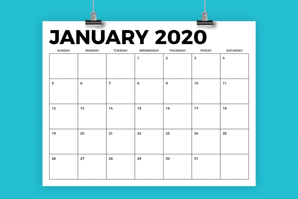 85 x 11 inch bold 2020 calendar 8 5 x 11 calendar