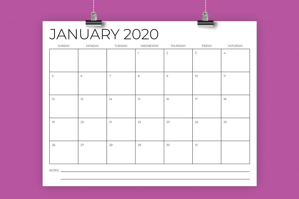 85 x 11 inch minimal 2020 calendar 8 5 x 11 calendar