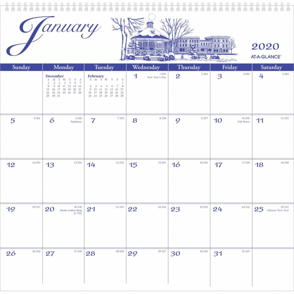 at a glance illustrators edition monthly wall calendar yes monthly 1 year january 2020 till december 2020 1 month single page layout 11 calendar template for 11 by 17 paper