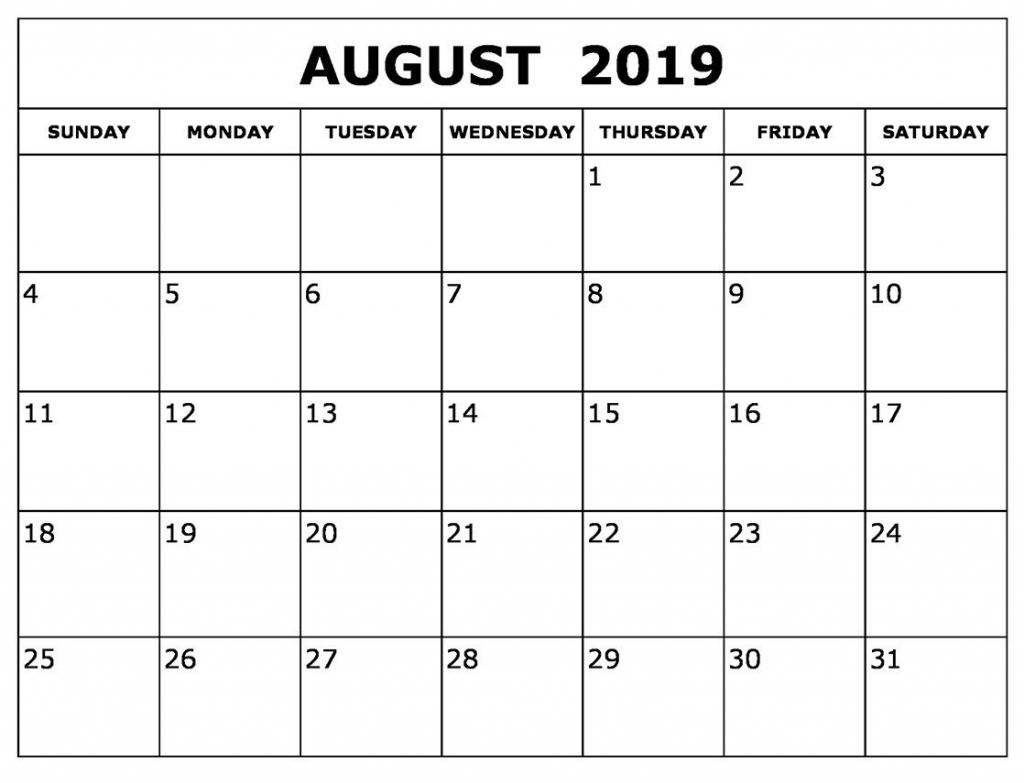august calendar 2019 waterproof in 2019 printable blank free printable calendars 2020 waterproof