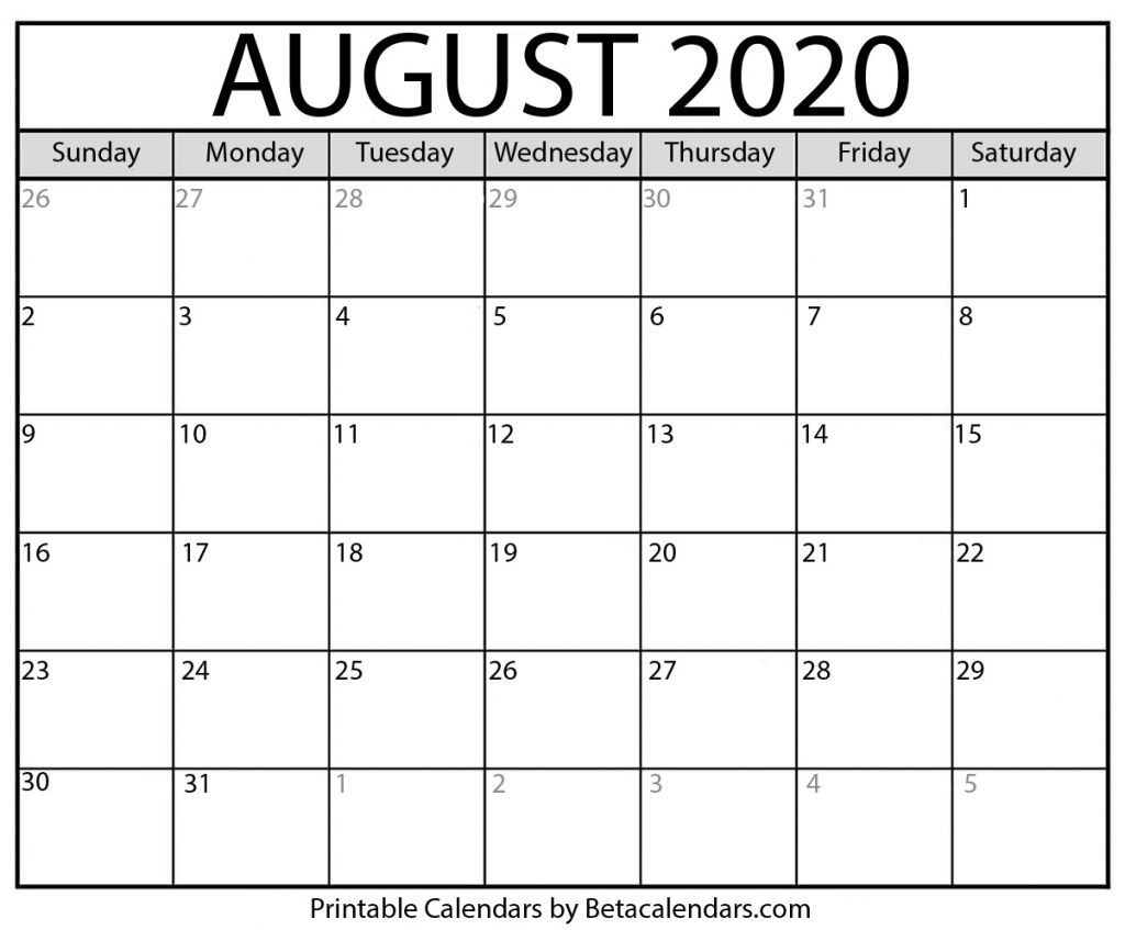 blank august 2020 calendar printable beta calendars cbs calendar template