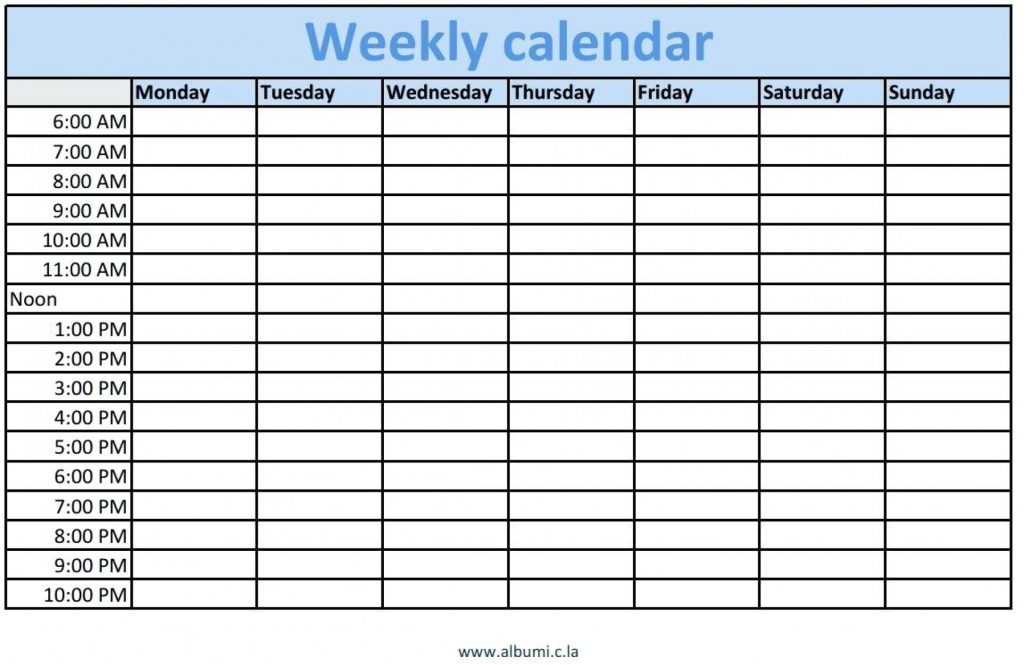 blank schedule template with time slots example calendar weekly schedule with time slots