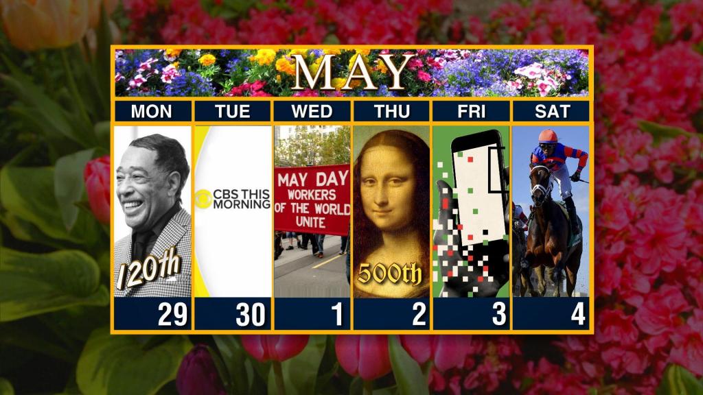 calendar week of april 29 cbs weekly calendar