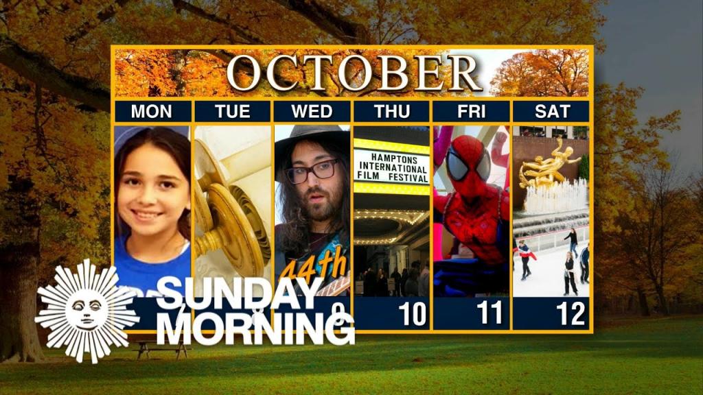 calendar week of october 7 cbs weekly calendar