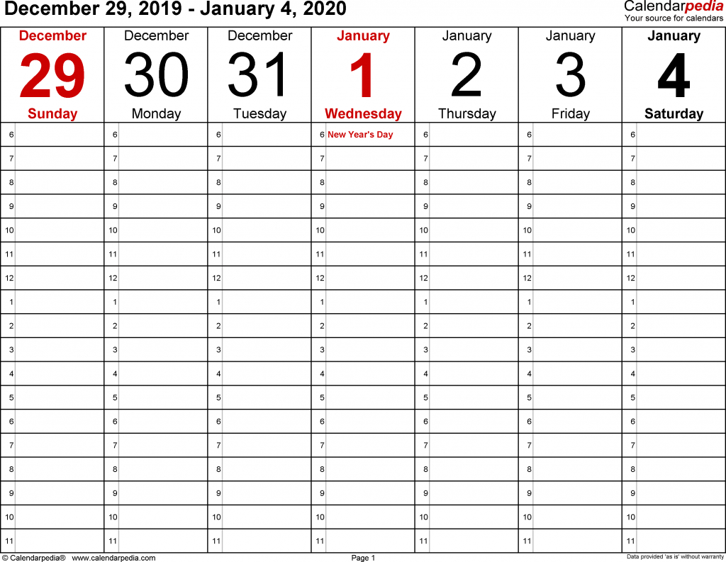 calendarpedia your source for calendars october 2020 weekly calendar editable half hourly