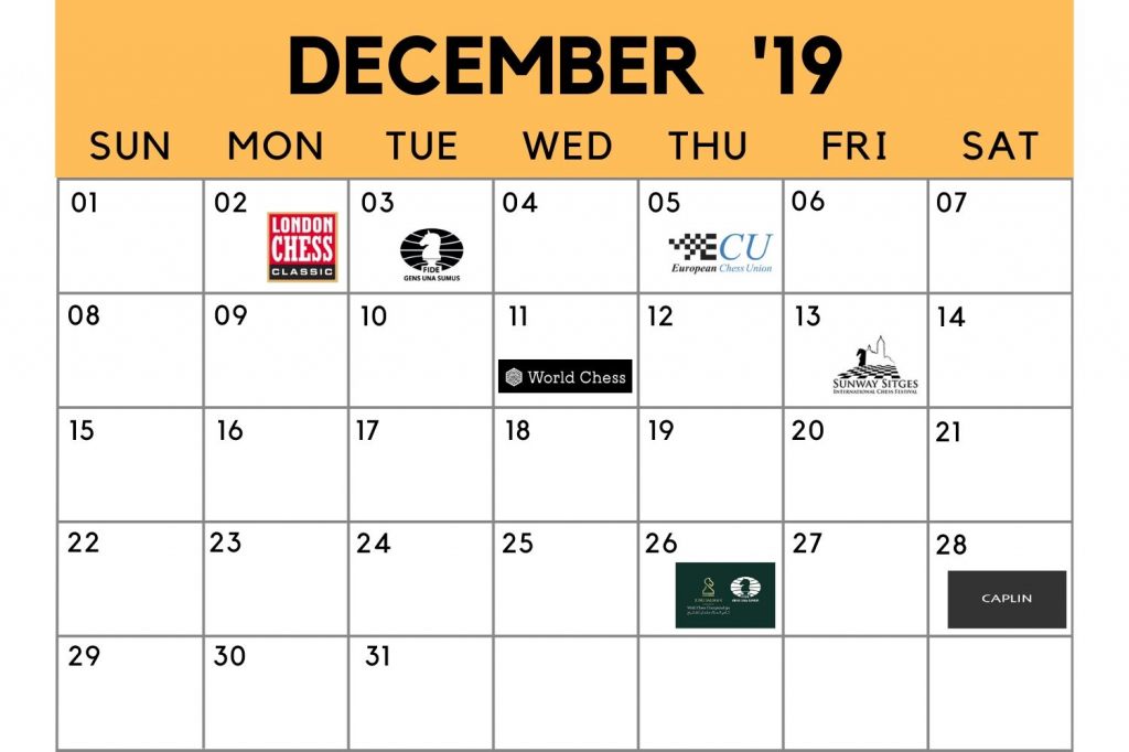 chess calendar december 2019 chessbase january 20000 calendar