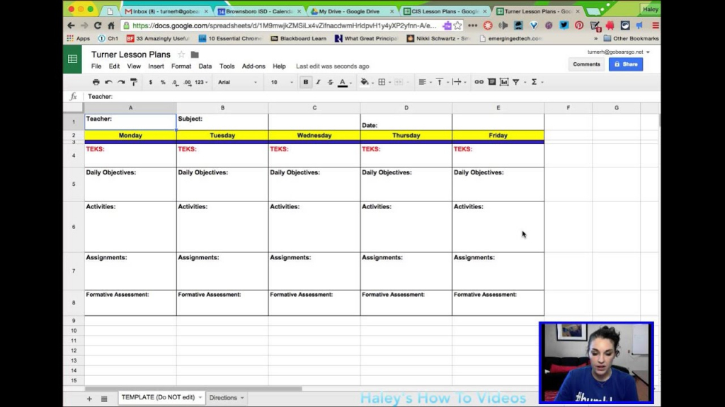 creating lesson plans from a template in google sheets google lesson plan and calendar template