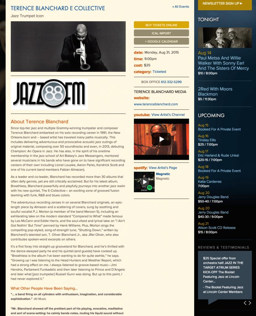 dakota jazz club the events calendar dakota jazz club december calender 2