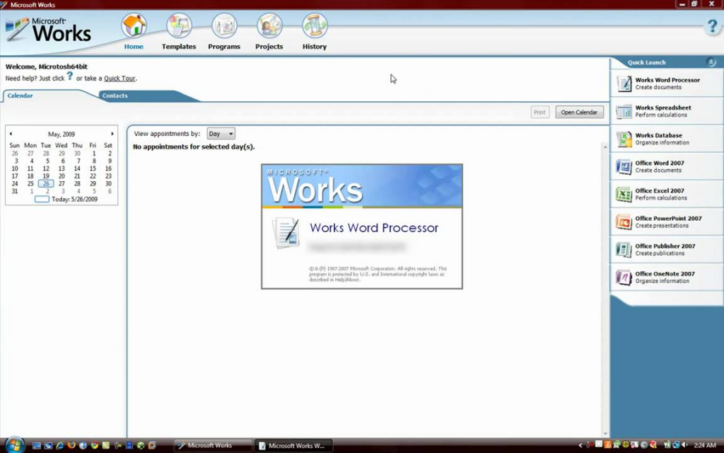Able microsoft works windows 10