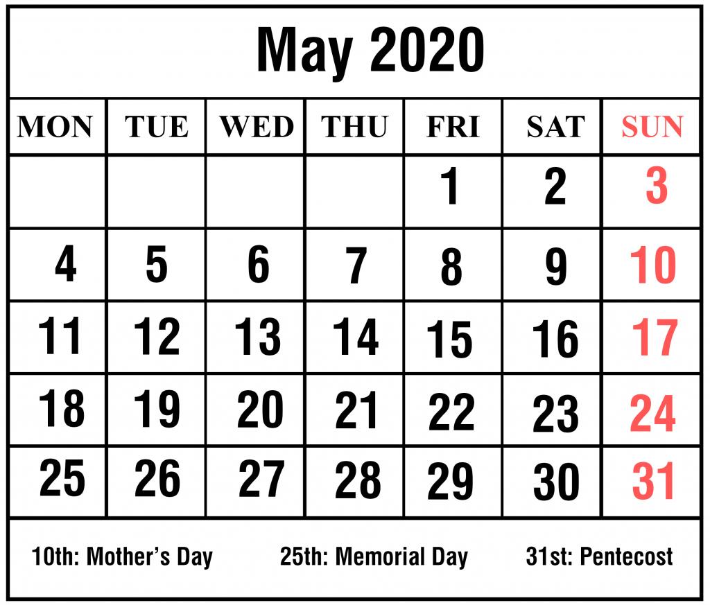 download free blank may 2020 printable calendar pdf excel printable calendar numbers to download for teachers