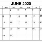 Free June 2020 Calendar Printable 12 Month Printable Calendar Free Printable Calendars 2020 Waterproof