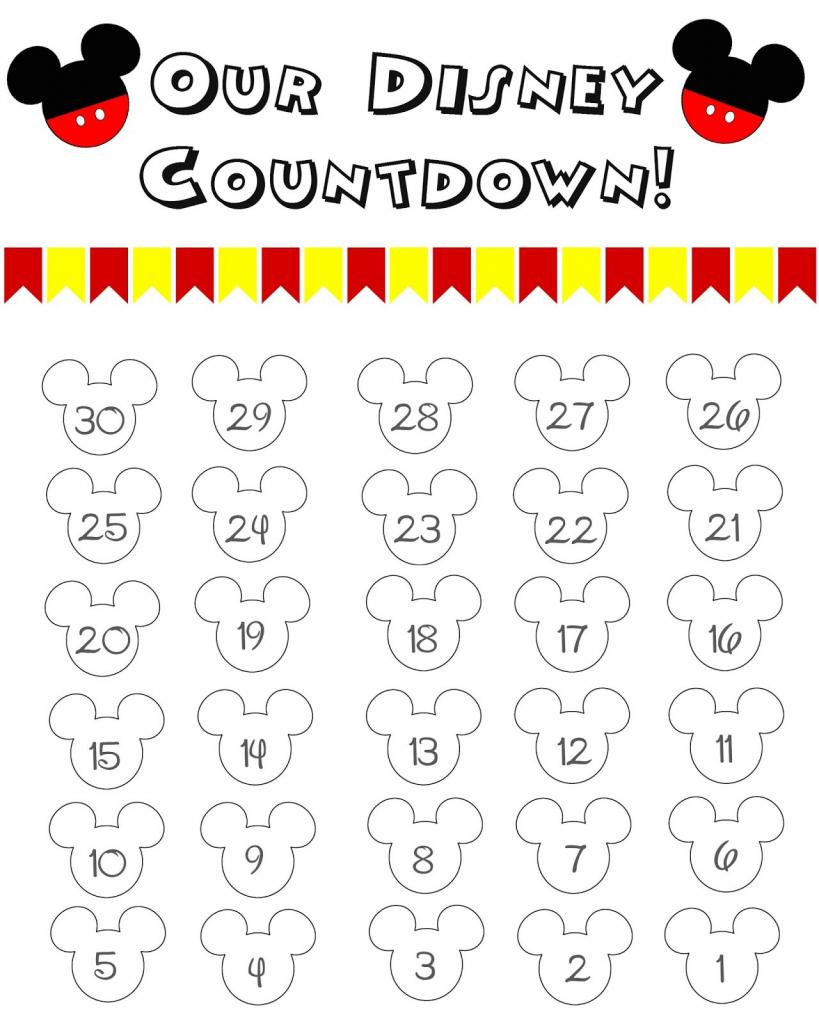 free printable countdown calendar for kids disney world countdown calendar for preschool printable