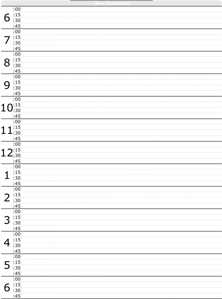 free printable hourly daily planner daily planner printable calendars daily by hour