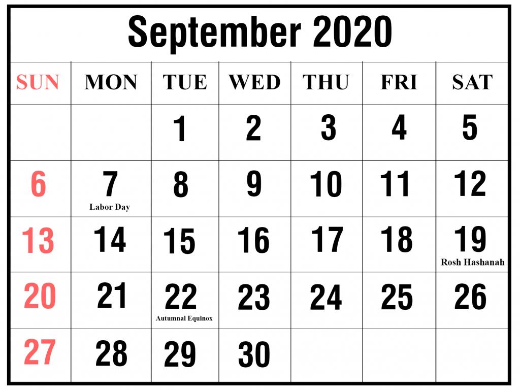 free printable september 2020 calendar templates pdfword labor day 2020 calendar