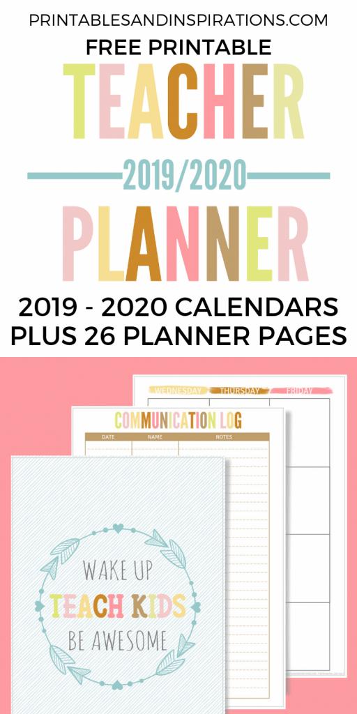 free teacher planner printable 2019 2020 lesson planner lesson plan calendar template 2020