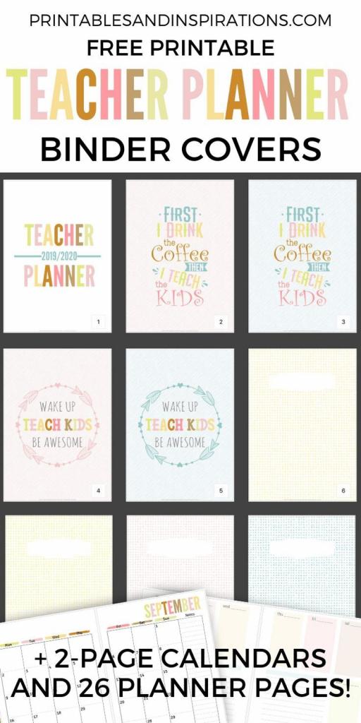 free teacher planner printable 2019 2020 teacher planner printable calendar numbers to download for teachers