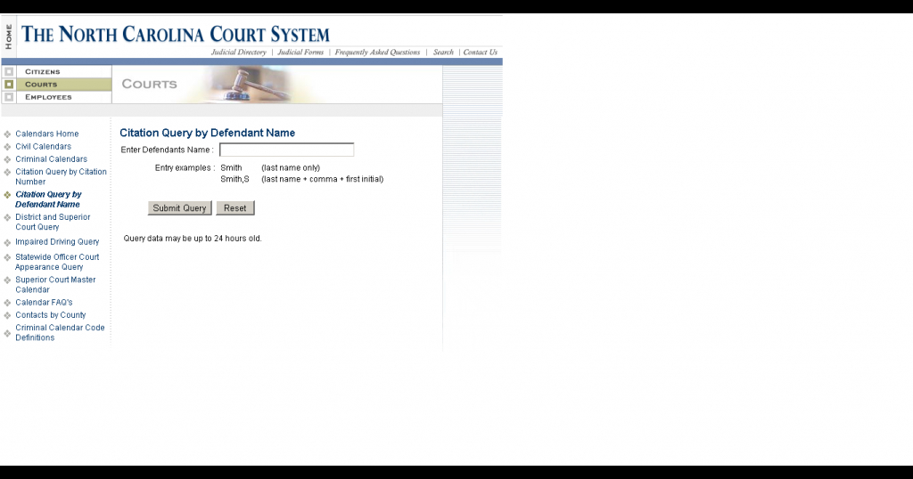 how do i find my court date if i dont have my ticket district and superior court query nc